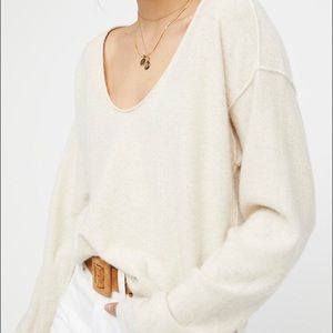 Free People cashmere Now or Never sweater